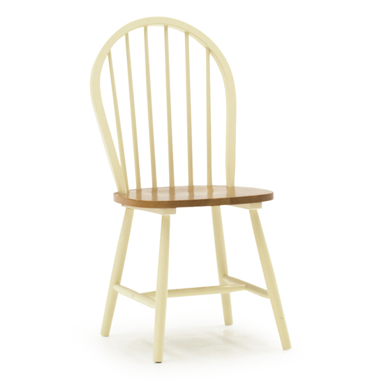 Windsor Wooden Dining Chair In Buttermilk