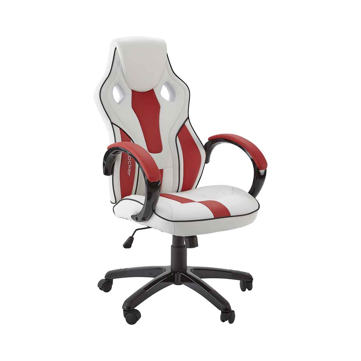X Rocker Maverick Office Computer Gaming Chair, White/Red