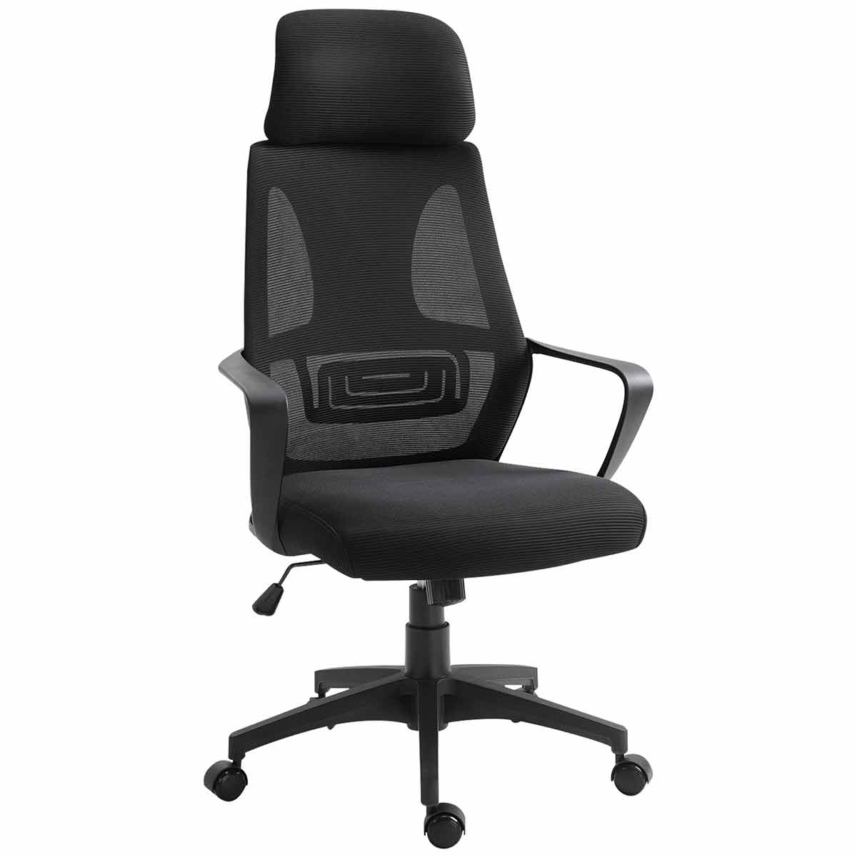 Lilliana Mesh Back Office Chair with Padded Headrest, Black